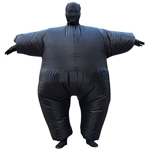 DXQDXQ Gaint Anzug Sumo Ringer Aufblasbares Fett Dick Kleid Fasching Karneval Kostüm Halloween Fancy Dress Cosplay Party Outfit Neuheit Spielzeug für Erwachsene Kleidung (Color : Black)