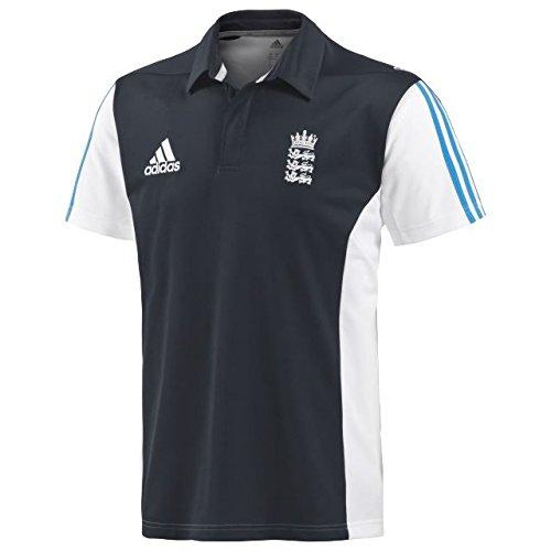 adidas England Cricket Training kurzärmliges Poloshirt für Herren, Marineblau Gr. Medium, navy