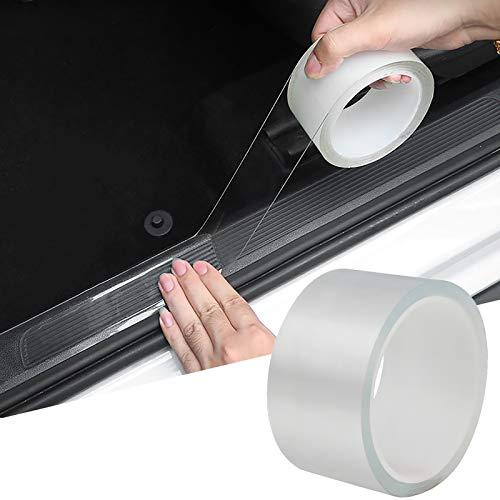 Storystore Car Door Edge Guard Clear Universal Door Sill Guard Car Door Trim Edge Guard Protection Film Anti-Collision Fits for Most Car (2In x 33Ft, Transparent)
