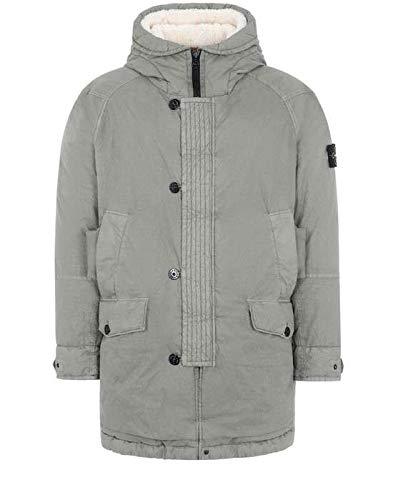 Stone Island 71321 50 Fili Resinata Down-TC Jacket with Sheepskin Mud-XL