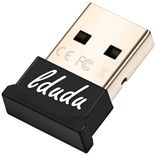 LDUDU Bluetooth Adapter PC, Bluetooth 5.0 EDR USB Dongle Stick für PC, Laptop, Desktop Headset, Lautsprecher, kompatibel mit Windows7/8/10