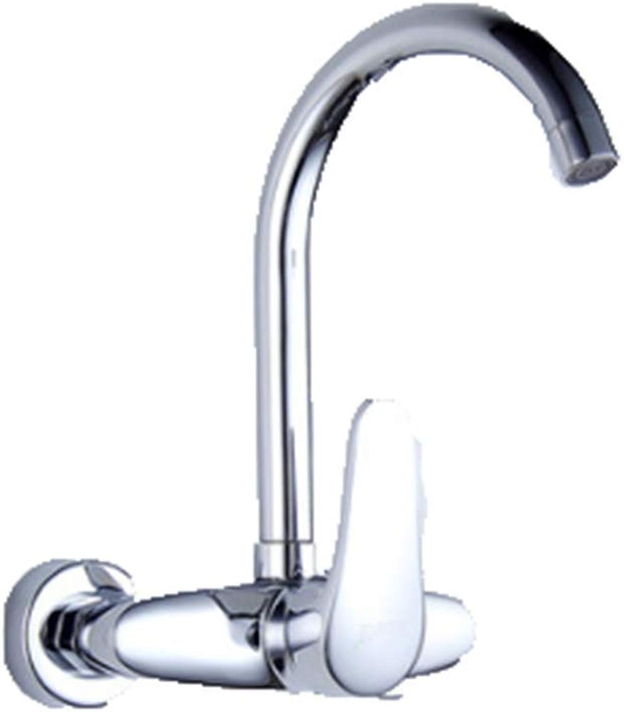 CTREKE Waschbecken Wasserhahn Küchenspüle Mischer Bad Wasserhahn in die Wand heien und kalten Wschepool F