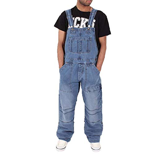 CHIYEEE Mannen Denim Dungarees Jeans Casual Losse Multi-Pocket Strap Broek Cowboy Bib Workwear Broek S-XXXL