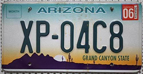 Original ARIZONA Nummernschild , Auto- Kennzeichen US License Plate , USA Metall Schild mit Motiv Kaktus - Wüste
