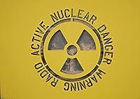 放射線 ハザード ロゴ 警告 ステンシル 塗装 型紙 原発 【大】