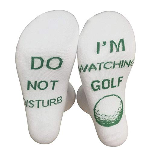 Black Deals Friday Cyber Deals Monday Sales Offer-Do Not Disturb I'm Playing Gaming Funny Sock (Golf White)