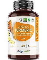 Bio Kurkuma capsules met zwarte peper en gember - 480 mg - 365 vegan capsules voor 1 jaar - Biologisch vegan curcumine supplement