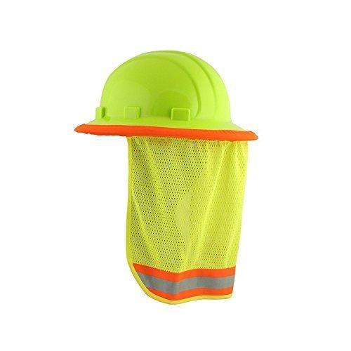 2/PACK - Neck Sun Shield For Hard Hats Hi Visibility Mesh - Hi Viz Lime (2/PACK)