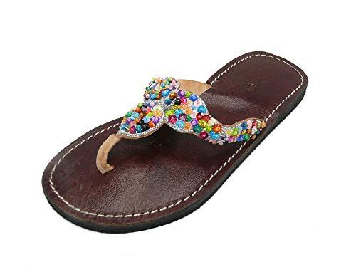 Orientalische Leder Schuhe Orient Sandalen - Damen - 905781-0003, Schuhgrösse:40