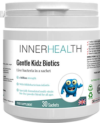Premium UK Made Natural Probiotic Immune & Digestive Support for Children - 100% Herbal Formula with Friendly Bacteria for Optimal Nutrient Absorption & Long Term Digestive Health, 30x 1g Sachets.