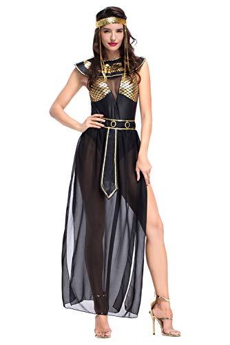 Athena Griechische Göttin Kostüm Kleopatra Kostüm Ägyptische Königin Cosplay Kostüm für Halloween Damen M