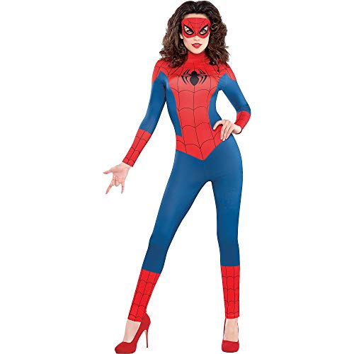 SUIT YOURSELF Sexy Spider-Girl Catsuit Halloween Costume for Women, Small, Includes Jumpsuit and Mask