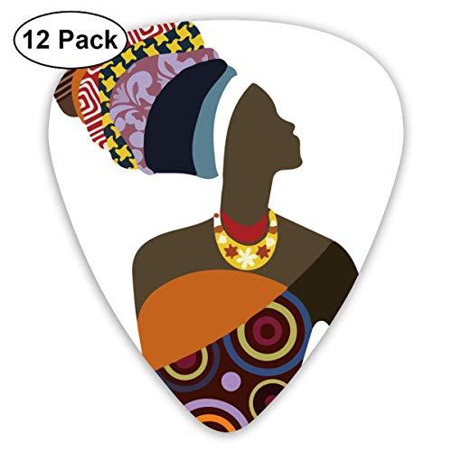 African Women Guitar Picks Premium Picks für akustische E-Gitarren Bass oder Ukulele inklusive Thin, Mittlere und schwere Anzeigen