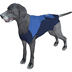 Surgi~Snuggly Dog Cone – E Collar Alternative for Dogs, Made with American Textile to Protect Your Pet's Wounds, The Original Dog Recovery Suit