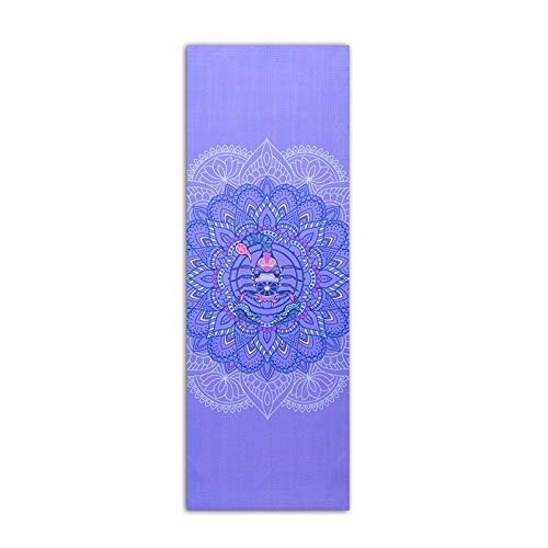 ZDSGXJQA Yoga Mat PVC, Antideslizante Mat Pilates Aptitud De Los Deportes De Tapetes, Impreso Inicio Danza Principiante 6 Mm A Prueba De Agua para Clase de Gimnasia o Gimnasio en casa