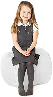 Children s Water Resistant Quilted Round Cylinder Bean Bag  White