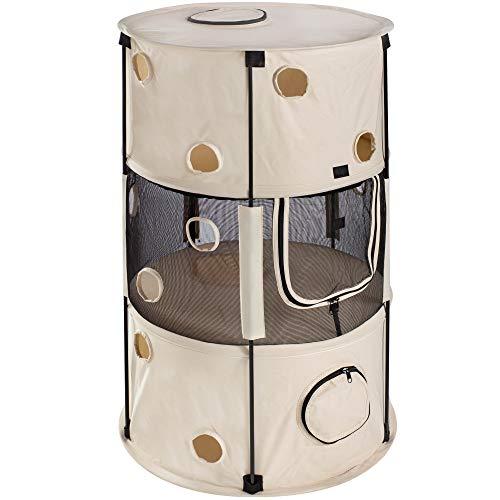 Mool opvouwbare kat speelhuis, crème, 3,2 kg