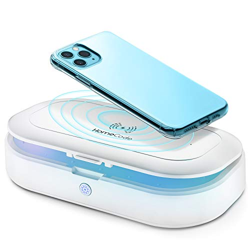 Homecode UV Cleaner & Wireless Charger   3 in 1 Sterilizing Box for Cell Phone, Jewelry, Watches,...