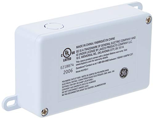 GE 39971 Direct Wire Converter for Linkable Light Fixtures, Junction Box, Control Multiple Lights from One Switch and Eliminate Cords, White