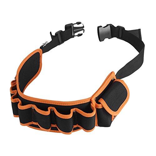 Cinturón de cintura ajustable Bolsa Multi-bolsillos Hardware Electricistas Herramienta de reparación Destornillador Maletín de transporte Reparación de bolsillos