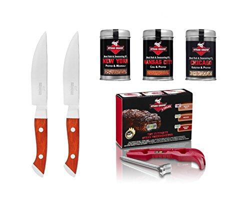 Mastrad 4260303820958 Coffret cadeau de 3 COLOR Steak Gourmet
