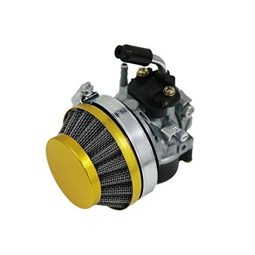 NAVARME Yellow Air Filter Carburetor For 49cc 60cc 80cc Motorized Bike
