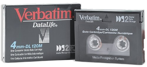 Verbatim 4.0GB 4MM DL 120M DAT Cartridge for DDS2 Tape Drive (Discontinued by Manufacturer)