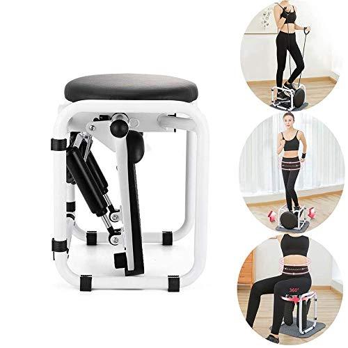 Piccolo Tapis roulant ellittico Stepper Tapis roulant Multifunzione per Uso Domestico Mini Scala Stepper Esercizio Fitness Attrezzature Mute,White