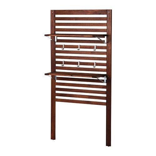 IKEA APPLARO–Wandpaneel mit Regalen, braun–80x 30x 158cm