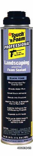 Touch n Foam 4006002450 Black Landscaping Polyurethane Foam Sealant, 24 oz