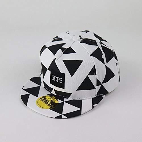 Swooggle Baseball-Cap Dope Patch Triangle Block Printing Sombreros de Hip Hop Gorra Deportiva de Marea Amantes de Hombres y Mujeres Sombrero de béisbol de Borde Plano 56-58cm WhiteDOPE