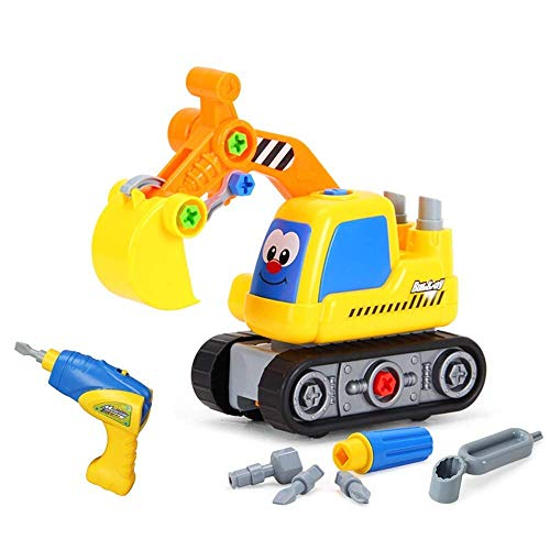 Take Dright Juguetes, Toy Train de avión para niños de juguete para niños de aprendizaje ideal herramienta de construcción educativa con herramientas de tornillo gran regalo para niños niños niñas de