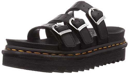 Dr. Martens Damen Blaire Slide Sandalen zum Reinschlüpfen, Schwarz Hydro Leder, 37 EU