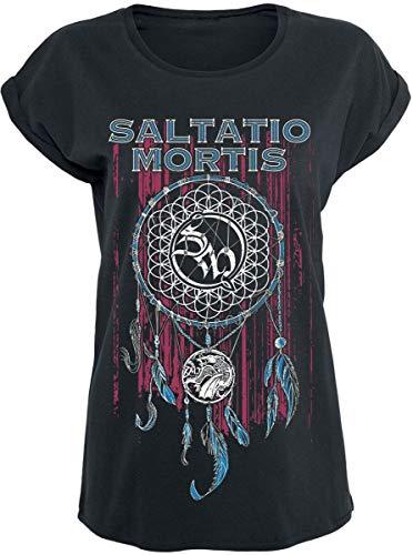 Saltatio Mortis Dreamcatcher Frauen T-Shirt schwarz S 100% Baumwolle Band-Merch, Bands