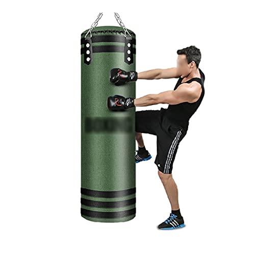 HCKLYTN Bolsa de Boxeo Colgando Punch Bag Artes Marciales Práctica Punch Bolsas Mejore Fitness Fitness Bolsa de Entrenamiento Pesado Alta Elasticidad ll (Color : Green, Size : 110CM)
