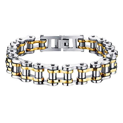 Falaiws Herren-Armband aus Titanstahl, verstellbare Handschlaufe, elastisches Armband, Vintage-Stil, Legierung, Armband für Party-Touren