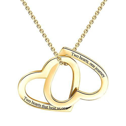 SOUFEEL Collar ''Única Corazón'' Plata de Ley Colgante Nombre Personalizados Joyería para Mujer Regalo para Familia Novia Bebe Cadena Ajustable