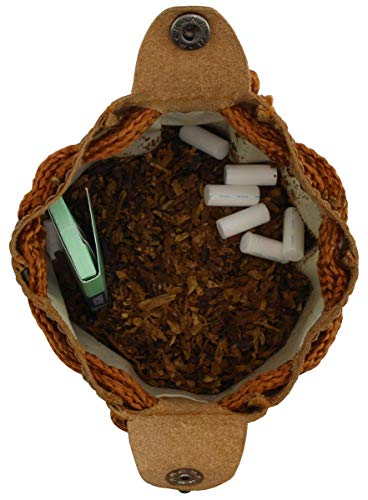 41BYOt6k81L - Gusti Cuero Studio Raven Bolso para Tabaco de Liar Vintage Retro Piel de Búfalo Trabajo Universidad Unisex Caucho 2T7-22…