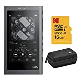 Sony NW-A55 16GB Walkman Hi-Res Portable Digital Music Player with 16 GB Card and Case Bundle (3 Items)