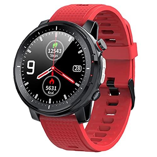 Reloj Elegante Sraeriot Bluetooth Pulsera De Los Deportes Ip68 a Prueba De Agua Pantalla Táctil Hombres Mujeres Aptitud Del Reloj Inteligente Roja Del Reloj Trackers