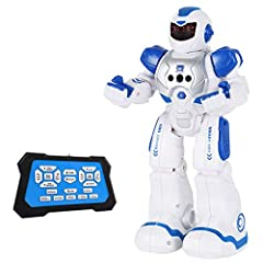 GESTURE SENSING: The SGILE robot toy has a built-in infrared sensor that follows your gestures. Put your hand in front of the robot and control the robot to turn left, right, forward and backward by making corresponding gestures. The robot will autom...
