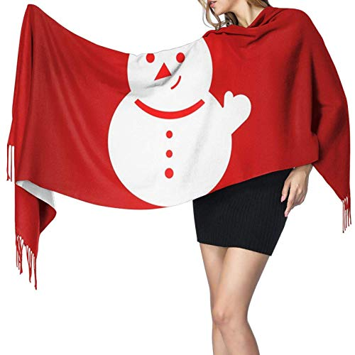 Jingliwang Schals Wickelschal Snowflakes Scarf Women Cashmere Scarves Shawl Wrap Stylish Warm Soft Blanket Large