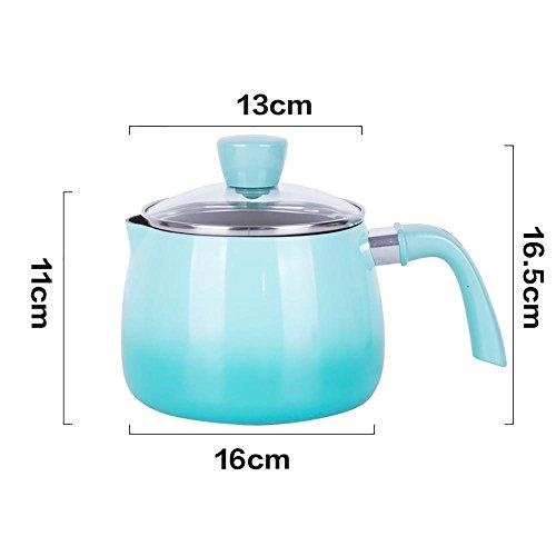 T&G 16cm StockPot Multi-Ply Roestvrij Staal Geklede Soeppot Met Glas Deksel Warmte Kookgerei Groen