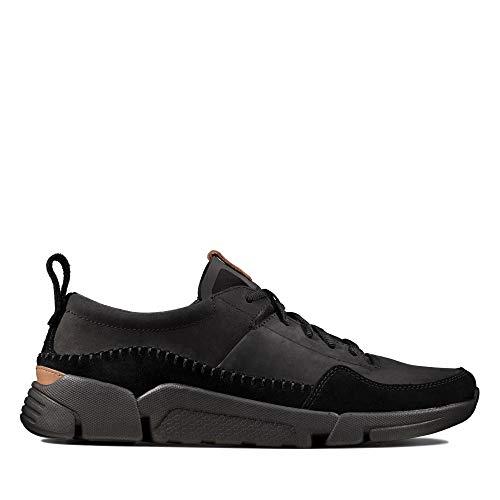 Clarks Herren TriActive Run Sneaker, Schwarz (Black), 43 EU