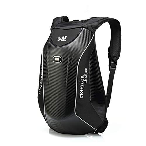 ZGF Motorcycle Backpack Carbon Fiber Hard Shell Turtle Bags Waterproof Large Capacity Storage
