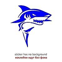 3Dカーステッカー バンパーリアウィンドウのためのサメの反射面白い車のステッカービニールデカール防水車の自動ステッカー 興味深い (Color Name : CK3264 Blue, Size : 30x30 cm)