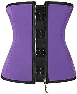 RZDJ Body Shaper Slimming Belt Women Latex Waist Trainer Tummy Control Waist Shaper Burning Slimming Waist Belt (Color : Purple, Size : XL)