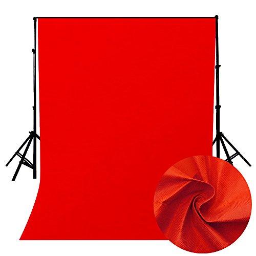 Ouneed - Green Screen Faltbare Hintergrund 160 * 200cm, Ausfahrbares Greenscreen mit Chromakey Effekt Film Shooting Background Backdrops Photography für Youtbube Video Fotostudio (Rot)