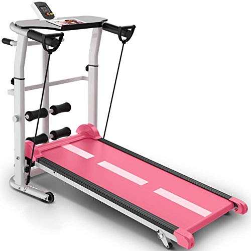 QIYUE Bureau loopband, Folding Onder Bureau loopband, Fit & Gezond op kantoor en thuis, verplaatsen en Work At The Same Time, No More rugpijn, praktische Tablet Holder, Black, Pink