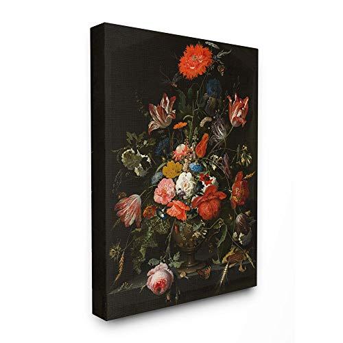 Stupell Industries Regal Bouquet Elegante Blumen Insekten Schmetterling Details, Design von Ziwei Li Wall Art, 61 x 76 cm